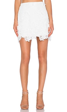 Backstage Alexa Skirt in White