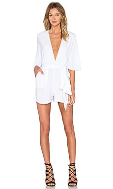 Cest La Vie Playsuit in Ivory
