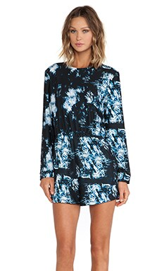 Backstage Paloma Playsuit in Midnight