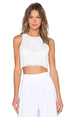 Backstage Last Dance Crop Top in White