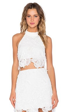 Backstage Nicolette Crop Top in White