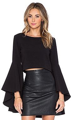 Backstage Farrah Top in Black