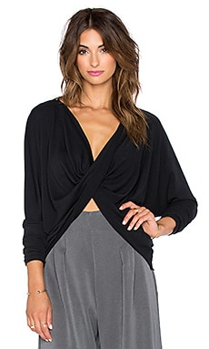Backstage Lori Reversible Top in Black