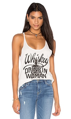 Whiskey Drinkin Woman Racer Tank in Black & White