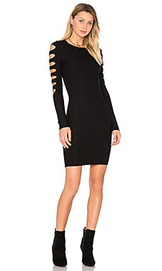 Lauren Sweater Dress en Noir