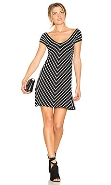 Endurance Reversible Dress in Black & Stripe