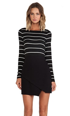 Bailey 44 Manic Depressive Dress Stripe in Black & White