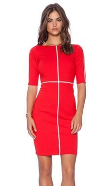 Bailey 44 Crossword Dress in Red & White