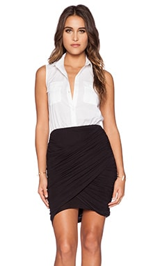 Bailey 44 Night Safari Dress in White & Black