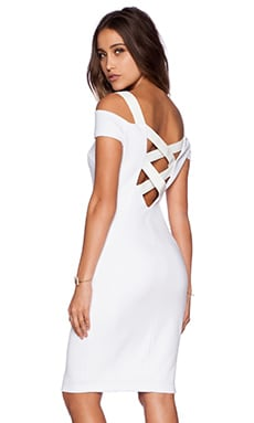 Bailey 44 Drop Shot Dress in White