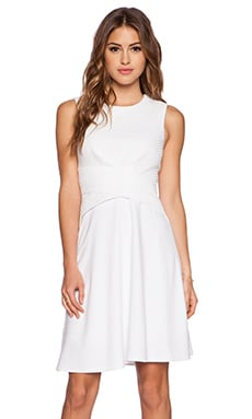 Bailey 44 Scored Dress in White