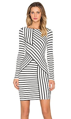 Bailey 44 Deconstruction Dress in Cream Stripe