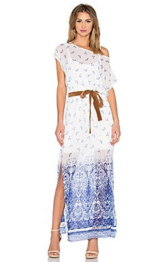 Bailey 44 Pegasus Dress in White & Blue