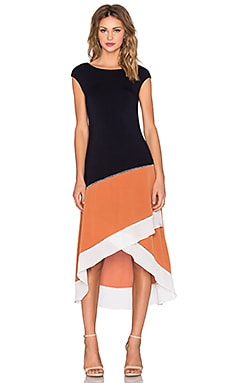 Bailey 44 Rumours Dress in Navy & Terracotta