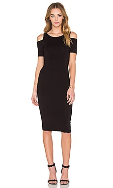 Short Sleeve Deneuve Dress in Black