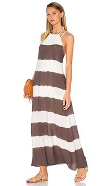 Galabeya Dress in Cream & Taupe