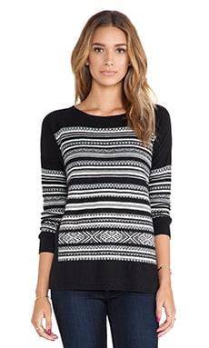 Bailey 44 Nordic Ski Sweater in Black & White