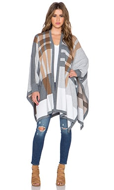 Bailey 44 Noho Poncho in Grey & Camel