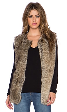 Bailey 44 Waverly Faux Fur Vest in Brown