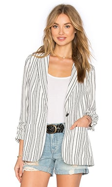 Great Migration Blazer em Woven Stripe