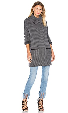 Cornell Sweater Coat en Anthracite