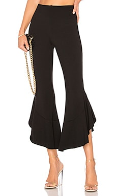 x REVOLVE Supafly Crop Double Ruffle Pant in Black. - size XXS (also in XS) Backstage RUGspdp