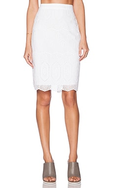 Bailey 44 Backseat Skirt in White