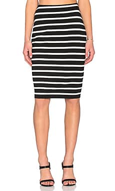 Bailey 44 Santorini Skirt in Black & White