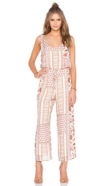 Bailey 44 Madder Jumpsuit in Stamp Print