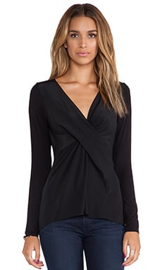 Bailey 44 Waterfall Top in Black