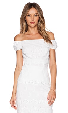 Bailey 44 Racketer Top in White