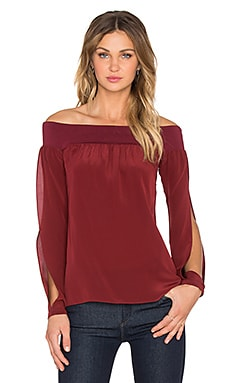 Bailey 44 Spacial Aspect Top in Burgandy