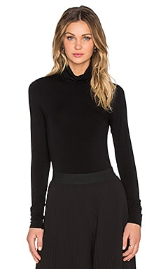 Turtleneck Bodysuit en Noir