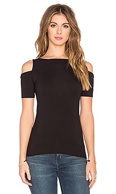 Short Sleeve Deneuve Top in Black