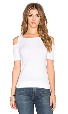 Short Sleeve Deneuve Top en Blanc