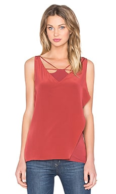 Zagora Top in Spice Red
