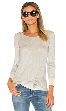 Block and Tackle Top in Heather Grey & Cream