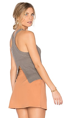 Steeplechase Sweater Tank in Cement