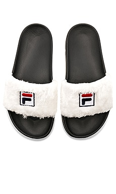 x Fila Faux Fur Slide Baja East $115