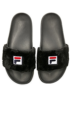x Fila Faux Fur Slide Baja East $58