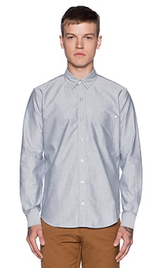 baldwin The William Button Down in Light Grey