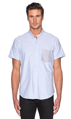 baldwin The Paul Button Down in Light Blue & Grey