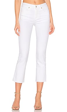 Maxwell Kick Crop Flare in Optic White