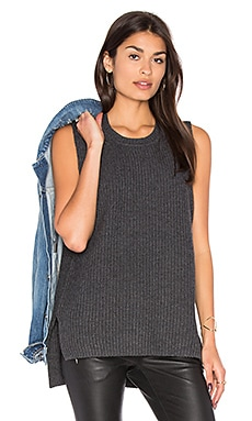 Moe Sleeveless Sweater in Heathered