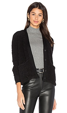 Effie Crop Cardigan in Black