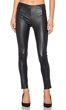 Hailey Leather Legging in Vintage Black