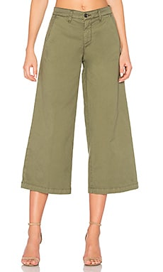 Devin Crop Trouser in Sage