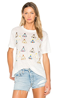 Teepee Village Tee in Bone