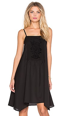 Band of Gypsies Square Neck Shift Dress in Black