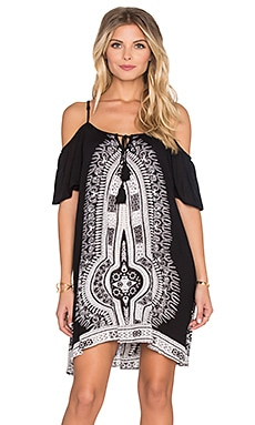 Band of Gypsies Printed Shift Dress in Black